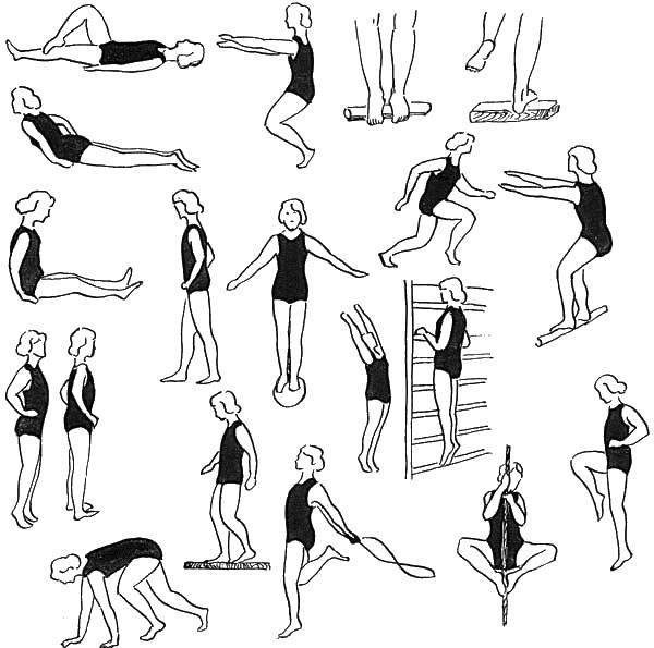 yassi oyoqlikni davolash uchun gimnastika